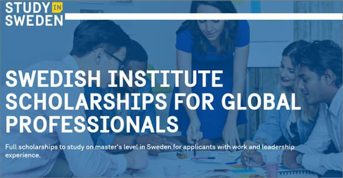 Swedish Institute Study Scholarship